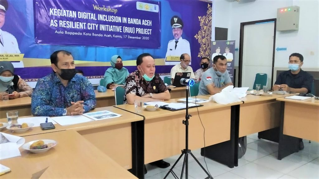 Workshop Kegiatan Digital Inclusion in Banda Aceh as Resilient City Initiative Project